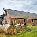 Hay Bales And Old Barns by Gary Heller