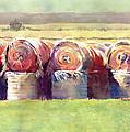 Hay Bales by Kris Parins