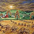 Hay Stacks by Linda Mears