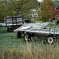 Hay Wagons by Joseph Yarbrough