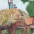 Haying Circa 1920 by Cliff Wilson