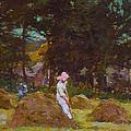 Haymaking  by Elizabeth Adela Stanhope Forbes