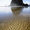 Haystack Rock At Cannon Beach by Oscar Gutierrez