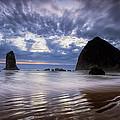 Haystack Rock At Sunset by Andrew Soundarajan