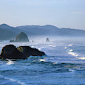Haystack Rocks In Cannon Beach by Panoramic Images