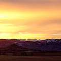 Haystack Rocky Mountain Front Range Sunset Panorama by James BO Insogna
