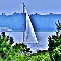 Hazy Day Sail by Kim Bemis