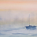 Hazy Day Watercolor Painting by Michelle Wiarda
