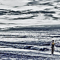 Hdr Black White Color Effect Fisherman Beach Ocean Sea Seascape Landscape Photography Image Photo  by Pictures HDR