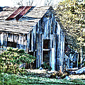 Hdr Tin Patch Roof Barn by Lesa Fine
