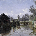 The Lake In Friesland by Carlos de Haes