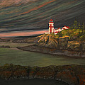 Head Harbour East Quoddy Light by Alison Barrett Kent