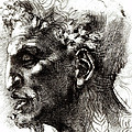 Head Of A Satyr  by Michelangelo