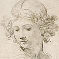 Head Of An Angel by Pietro da Cortona