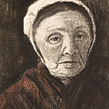 Head Of An Old Woman In A Scheveninger by Vincent van Gogh