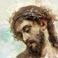 The Head Of Christ by Dragica  Micki Fortuna