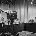 Head Of Production Lowell Cable Cameraman Panel  Kvoa Tv Circa 1955 Color Added 2013 by David Lee Guss