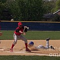Head Slide In Baseball by Thomas Woolworth