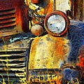 Headlight On A Retired Relic Abstract by Barbara Snyder