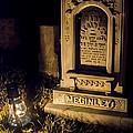 Headstone By Lantern Light by Jeffrey Miklush