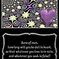 Heart And Love Design 14 With Bible Quote by Rose Santuci-Sofranko