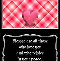 Heart And Love Design 15 With Bible Quote by Rose Santuci-Sofranko