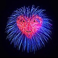 Heart Fireworks Face by Bruce Nutting
