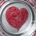 Heart In Mug Abstract 1 B by John Brueske
