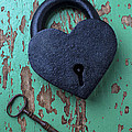 Heart Lock And Key by Garry Gay