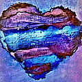 Heart Love Music Alcohol Inks  by Danielle  Parent