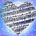 Heart Love Music Too  Alcohol Ink by Danielle  Parent