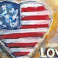 Heart Love Usa by Bernadette Krupa