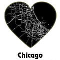 Heart Map Chicago by Voros Edit