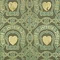 Heart Motif Ecclesiastical Wallpaper by Augustus Welby Pugin