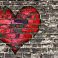 Heart On The Old Wall by Michal Boubin