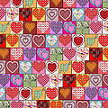 Heart Patches by Vicki Podesta