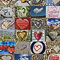 Heart Shape Collage  by Daliana Pacuraru