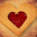 Heart shaped cookie with texture