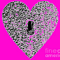 Heart Shaped Lock - Pink by Al Powell Photography USA