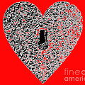 Heart Shaped Lock - Red by Al Powell Photography USA