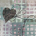 Heart String Abstract- Art  by Ann Powell