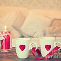 Heart Teacups by Amanda Elwell