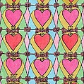 Hearts A'la Stained Glass by Maggie Pringle