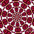 Hearts And Orchids Kaleidoscope by Rose Santuci-Sofranko