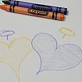 Hearts Crayola Crayons Artwork by Nicole Berna