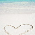 Hearts Drawn In Beach  by Auttapon Moonsawad