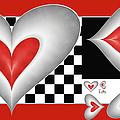 Hearts On A Chessboard by Gabiw Art