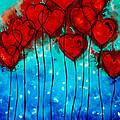 Hearts On Fire - Romantic Art By Sharon Cummings by Sharon Cummings