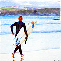 Heaven Is On A Wave - Surfer At Newquay by Mark E Tisdale