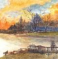 The Serene Sunset by Carol Wisniewski